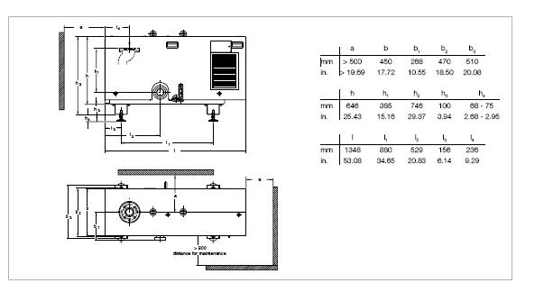 莱宝SCREWLINE SP250干式螺杆真空泵尺寸图