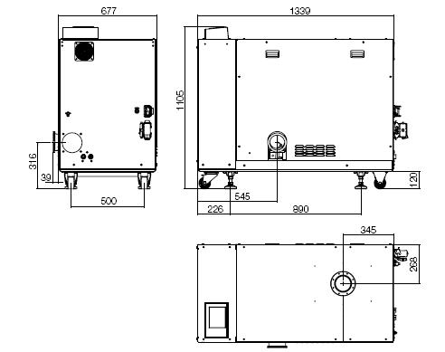 莱宝DRYVAC DV1200干式螺杆真空泵尺寸图